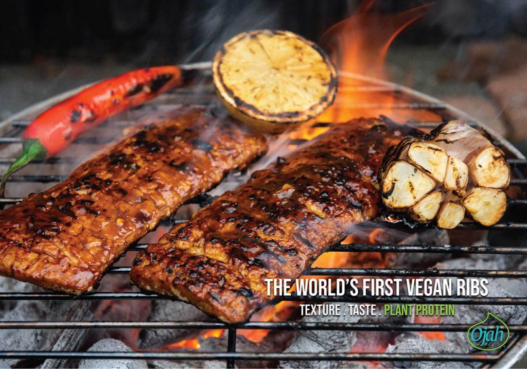 costillas vegetarianas en barbacoa