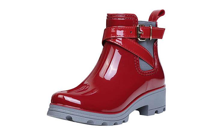 Bota de agua Zapatos Tobillo Casual_negra