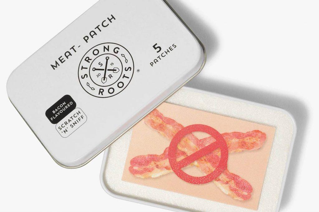 Parche de beicon para sobrellevar los antojos de carne